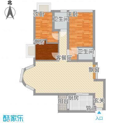 星河传说迪纳公寓100.00㎡星河传说迪纳公寓户型图迪纳公寓3室户型图3室2厅2卫1厨户型3室2厅2卫1厨