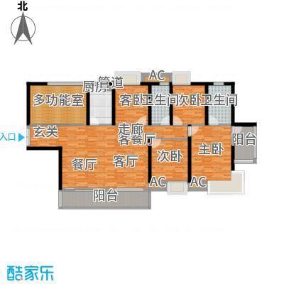 滨江公馆二期120.97㎡滨江公馆二期户型图5栋2单元02户型5室2厅2卫1厨户型5室2厅2卫1厨