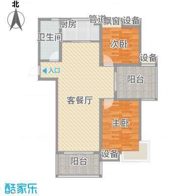彩弘国际110.00㎡二期b4户型3室2厅1卫1厨