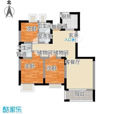 水秀新村94.00㎡水秀新村户型图3室户型图3室1厅1卫1厨户型3室1厅1卫1厨