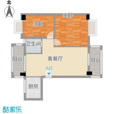 紫荆花园四期58.00㎡紫荆花园四期2室户型2室