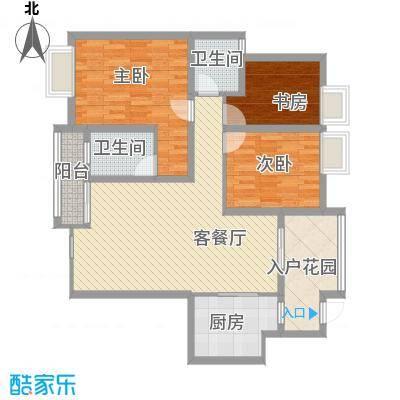 铭星小河印象110.00㎡铭星小河印象户型图A-3-3住宅标准层3室2厅2卫1厨户型3室2厅2卫1厨