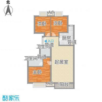 荣御原上园139.10㎡万象(1号楼D户型)户型3室2厅2卫1厨
