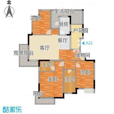 百悦尚城168.00㎡户型3室1厨
