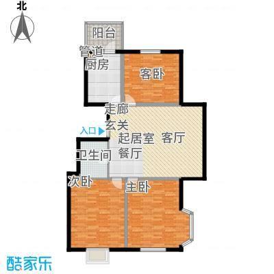 富丽国际117.00㎡D户型3室1厅1卫1厨