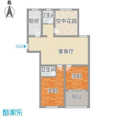 华夏春晓128.00㎡华夏春晓户型图二期H户型3室2厅2卫户型3室2厅2卫