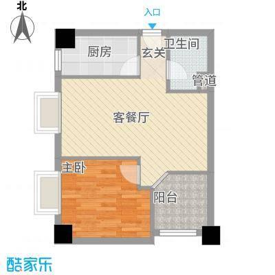 大唐长风外事国际公寓62.13㎡大唐长风上街户型2室1厅1卫1厨