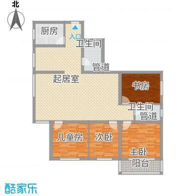 金地苑158.10㎡金地苑户型图4室2厅2卫1厨户型10室