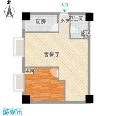 大唐长风外事国际公寓大唐长风上街户型1室1厅1卫1厨