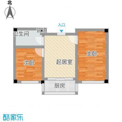 金华小区二期42.00㎡金华小区二期户型图2室1厅1卫1厨户型10室