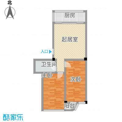 金华小区二期64.00㎡金华小区二期户型图2室1厅1卫1厨户型10室