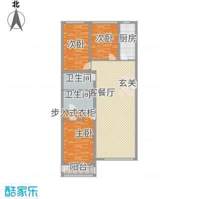 御苑1号166.00㎡御苑1号户型图D'户型3室1厅2卫1厨户型3室1厅2卫1厨