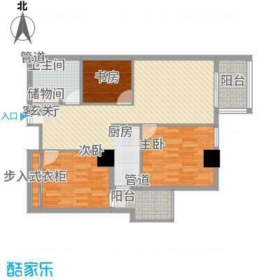 东岸未来城116.46㎡东岸未来城户型图3室2厅1卫1厨户型10室