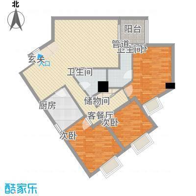 东岸未来城134.21㎡东岸未来城户型图3室2厅2卫1厨户型10室