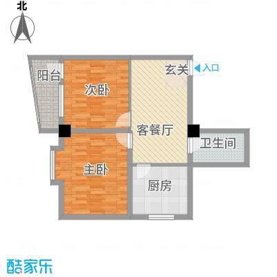 昌源胜景86.58㎡B户型2室1厅1卫1厨