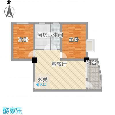 昌源胜景96.14㎡C户型2室2厅1卫1厨