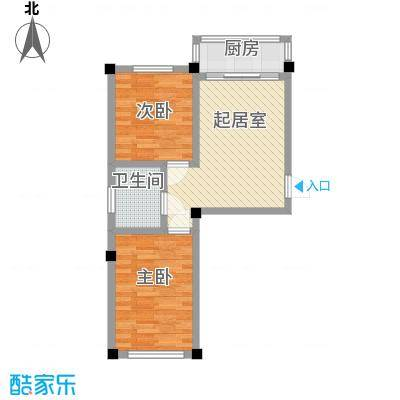 金华小区二期44.00㎡金华小区二期户型图2室1厅1卫1厨户型10室