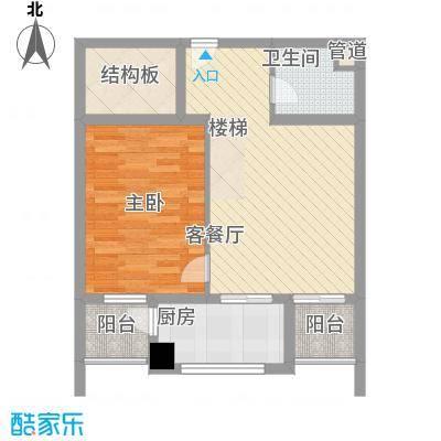 A+5米43房3厅户型3室3厅