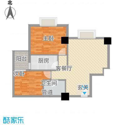 东岸未来城90.55㎡东岸未来城户型图2室2厅1卫1厨户型10室