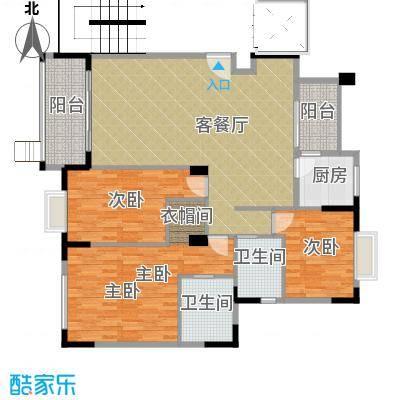 中信凯旋城二期174.00㎡户型3室1厅2卫1厨
