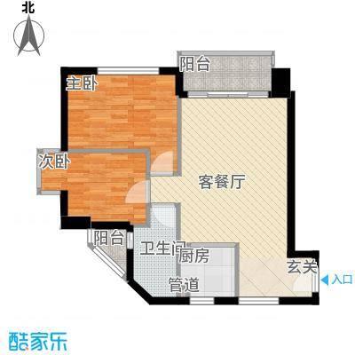 水厂宿舍楼86.00㎡水厂宿舍楼2室户型2室