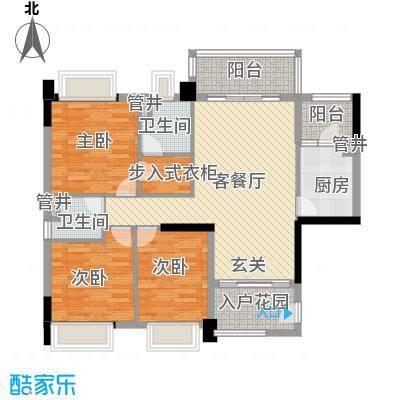 联华花园城二期118.00㎡联华花园城二期3室户型3室