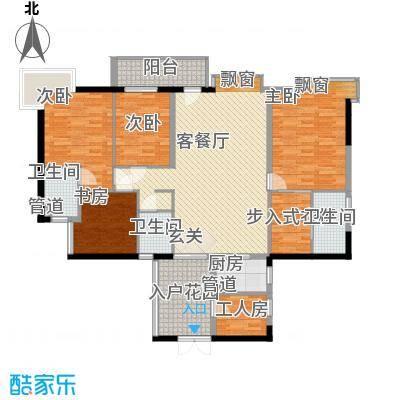 华建半岛豪庭176.00㎡华建半岛豪庭户型10室