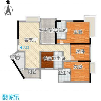 华建半岛豪庭152.00㎡华建半岛豪庭户型10室
