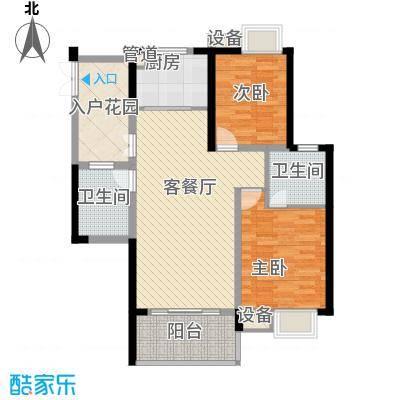 世纪城100.34㎡世纪城户型图Z区13#14#号楼2-23层A/D户型2室2厅2卫1厨户型2室2厅2卫1厨