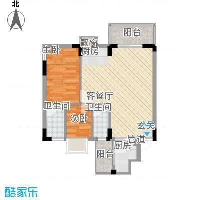 紫荆花园三期62.00㎡紫荆花园三期2室户型2室