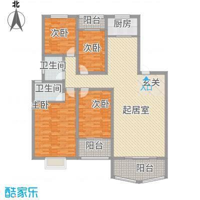 新中银花园30.00㎡新中银花园4室户型4室