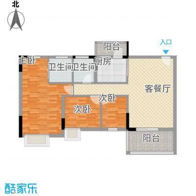 丽景花园三期117.00㎡丽景花园三期户型图2楼标准层05室3室2厅2卫1厨户型3室2厅2卫1厨