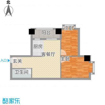 逸彩美寓83.00㎡逸彩美寓户型图3栋05单位2室2厅1卫1厨户型2室2厅1卫1厨