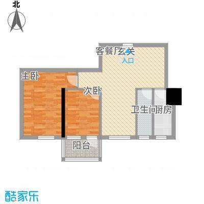 逸彩美寓81.00㎡逸彩美寓户型图3栋02单位2室2厅1卫1厨户型2室2厅1卫1厨