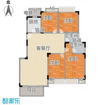 黄金花园210.00㎡黄金花园5室户型5室