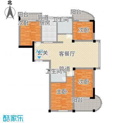冠达豪景苑冠达豪景苑户型图F44室2厅2卫1厨户型4室2厅2卫1厨