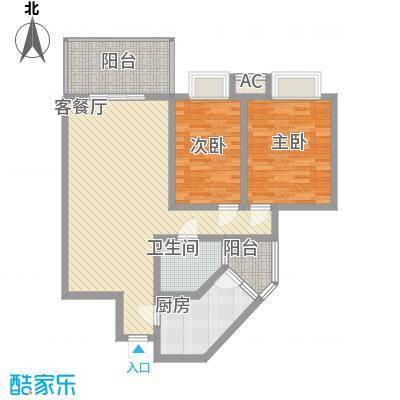 商房高第商房高第户型图v3208128102422室2厅1卫1厨户型2室2厅1卫1厨