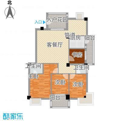 江畔芳庭127.00㎡江畔芳庭3室户型3室