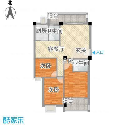 江畔芳庭117.00㎡江畔芳庭3室户型3室