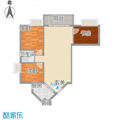 盛和新都会.86.14㎡盛和新都会.户型图3栋标准层03户型3室2厅1卫1厨户型3室2厅1卫1厨