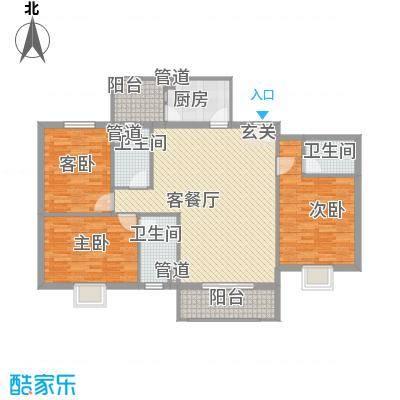 柏景豪庭138.00㎡柏景豪庭3室户型3室
