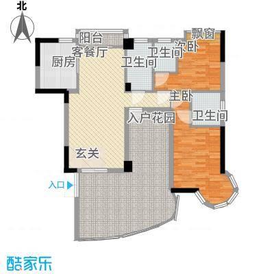 东方水岸123.00㎡东方水岸户型图05座02单元3室2厅3卫1厨户型3室2厅3卫1厨
