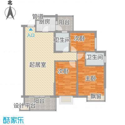 富豪花园126.00㎡桂城富豪花园3室户型3室