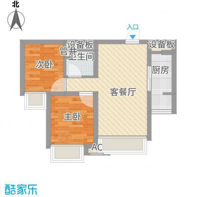 芳桂园56.00㎡芳桂园2室户型2室