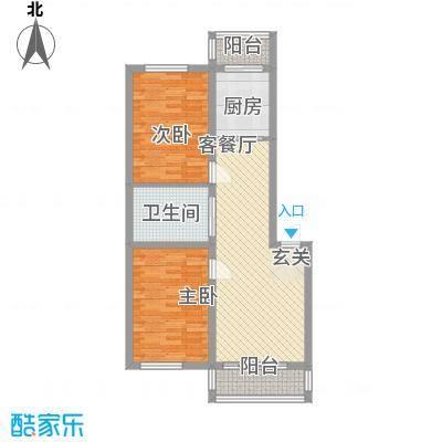 凤天阁84.00㎡凤天阁2室户型2室