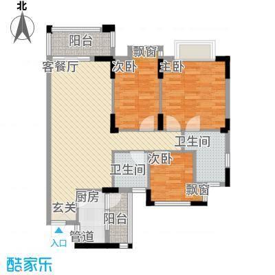中银大厦111.00㎡中银大厦3室户型3室