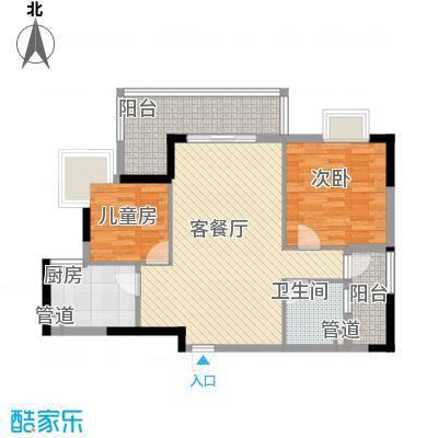 联华花园城三期84.94㎡联华花园城三期2室户型2室