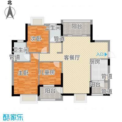 联华花园城三期116.05㎡联华花园城三期3室户型3室
