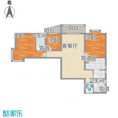 庙前社区(颐园小区)141.66㎡庙前小区户型3室2厅1卫1厨
