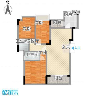 东泰花园景华苑108.00㎡东泰花园景华苑3室户型3室